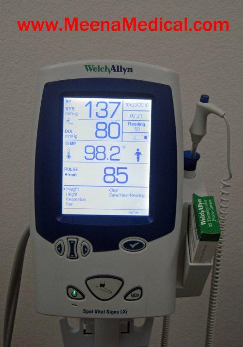Endoscopy Room Equipment List: Welch Allyn Spot Vital Signs LXi