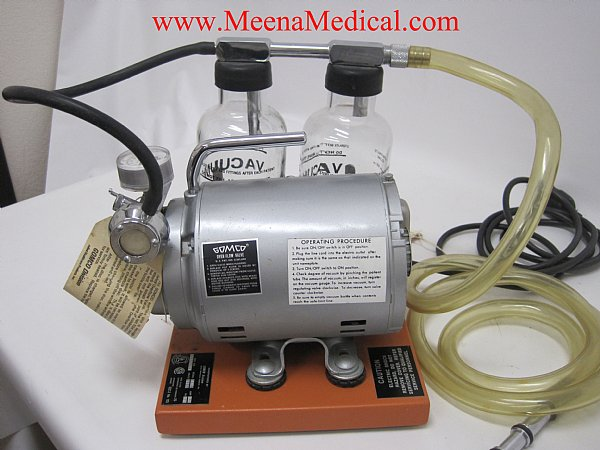 Gomco 406 Mobile Aspirator Suction Pump Preowned In Good