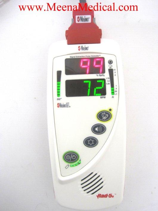 Masimo Pulse Oximeter >> Masimo Rad 5v Handheld Pulse Oximeter Preowned In Good Condition